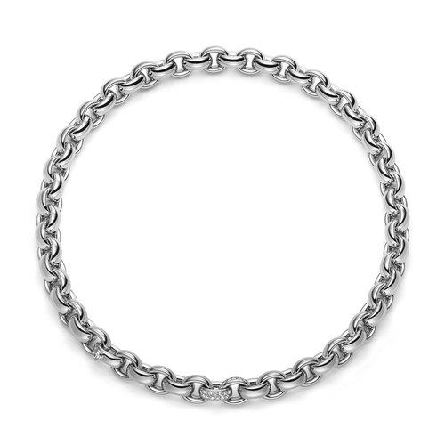 IsabelleFa ChaCha collier in witgoud met diamant Leon Martens Juwelier