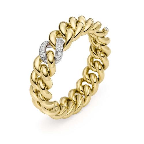 IsabelleFa Altesse armband in geel- en witgoud met diamant Leon Martens Juwelier