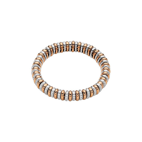 Fope Vendome armband in rosé- en witgoud met diamant Leon Martens Juwelier