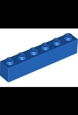 LEGO LEGO 3009 Brick 1x6 Blue (100 stuks)