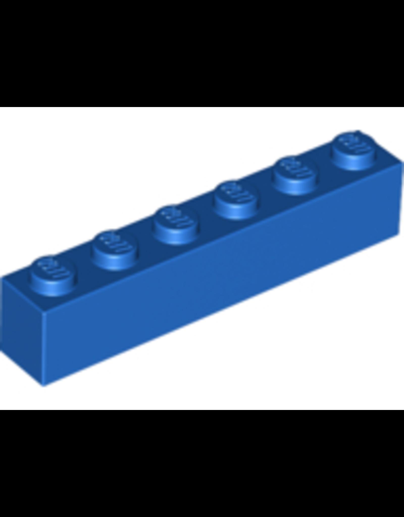 LEGO LEGO 3009 Steen 1x6 Blauw (100 stuks)