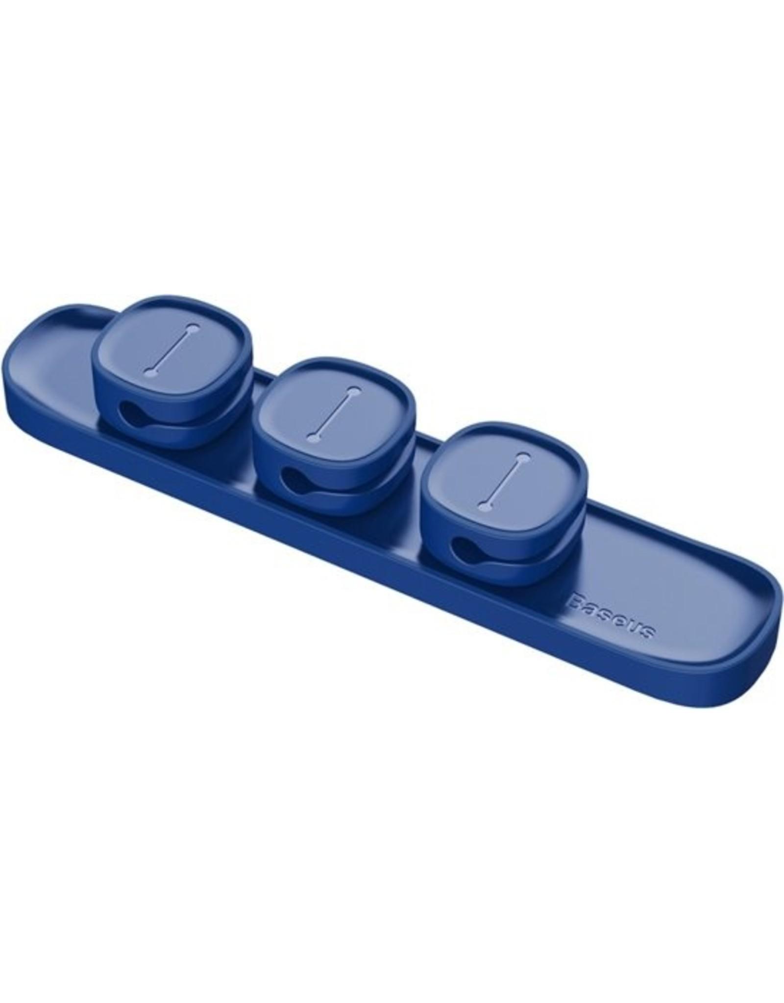 Baseus Baseus USB Kabel Clip Desk Tidy organisator draad leiden houder ontmoette zelfklevend gesteund (blauw)