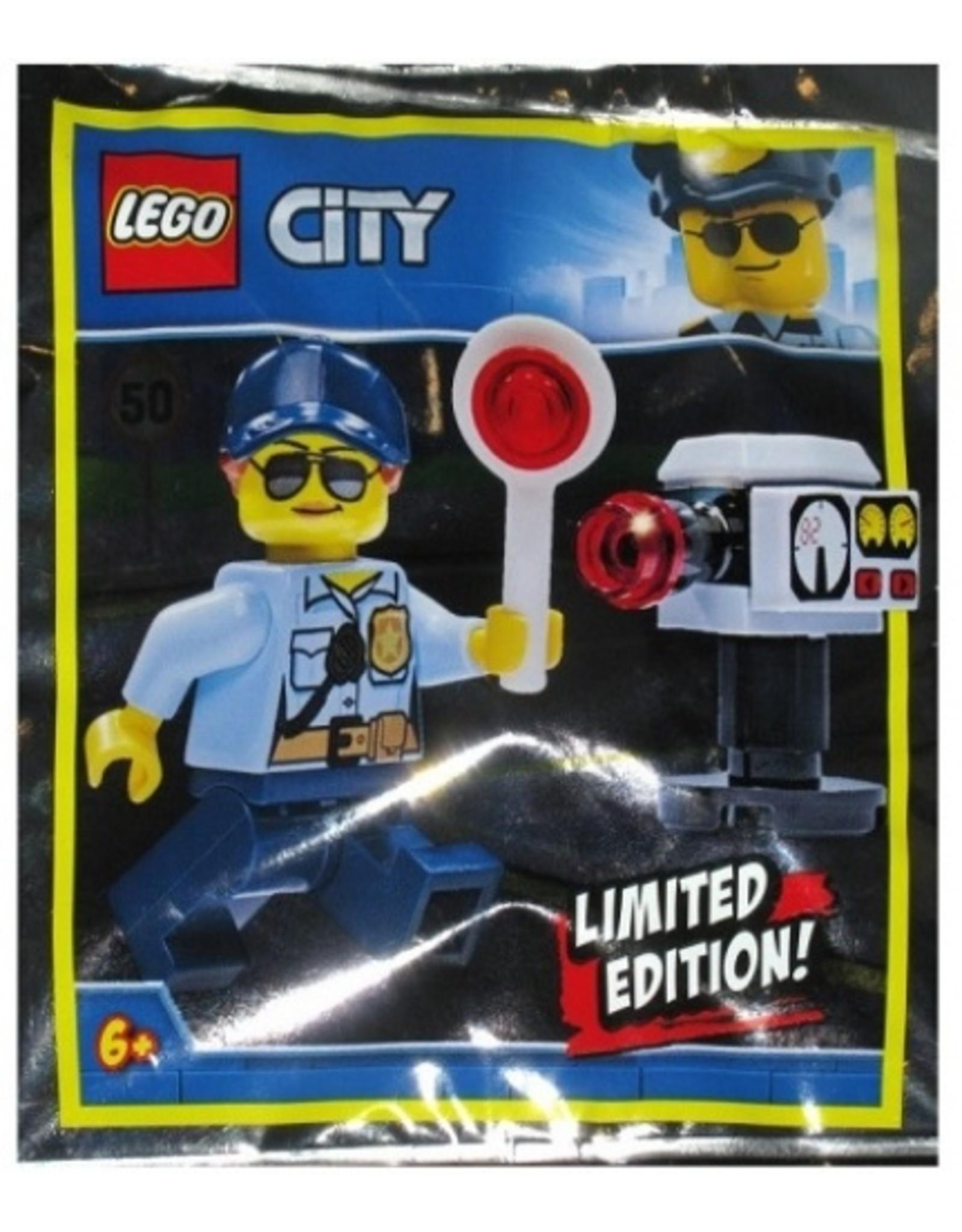 LEGO LEGO Politie Vrouw met Flitspaal (Polybag)