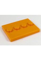LEGO LEGO 88646 tegel, aangepast 3x4 met 4 noppen in het midden - Oranje (20 stuks)