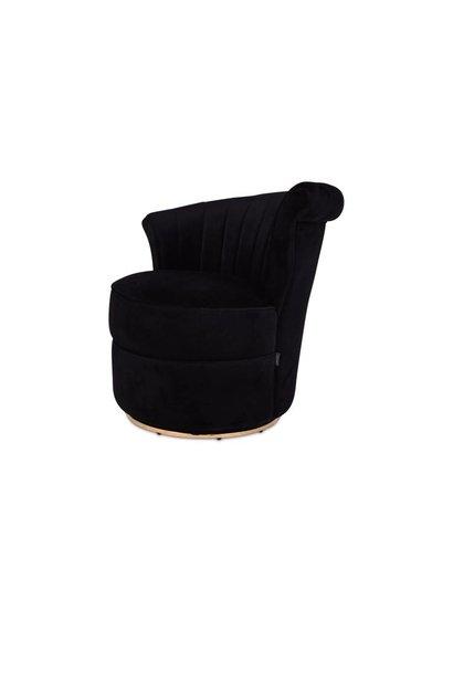 GABY Arm Chair Black Velvet