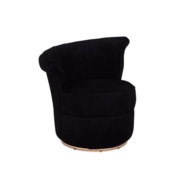 GABY Arm Chair Black Velvet-2