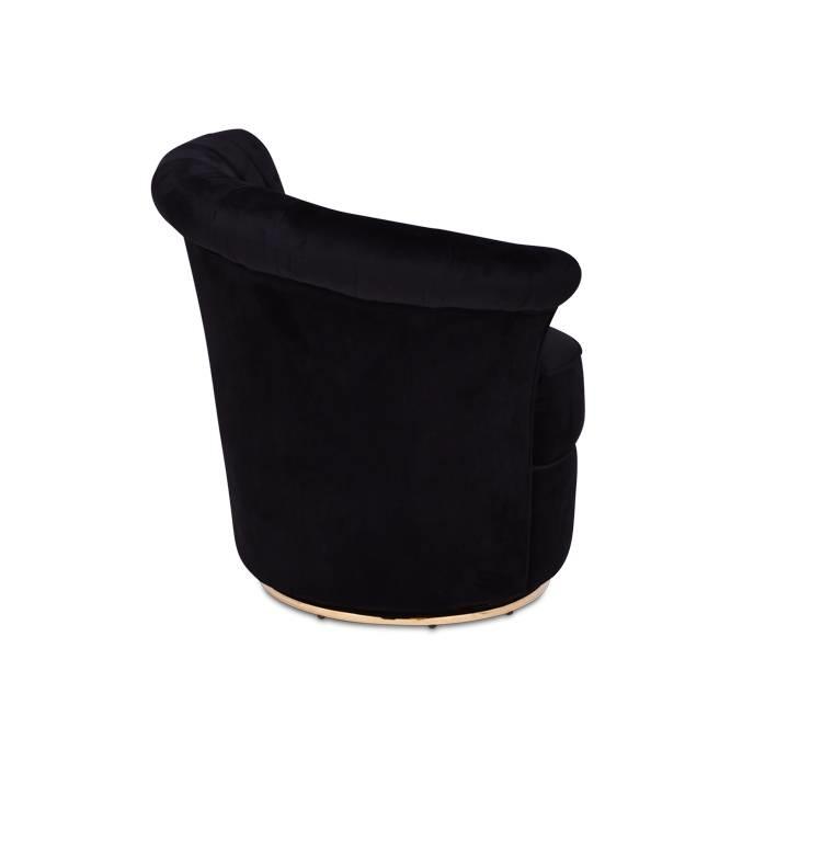GABY Arm Chair Black Velvet-3