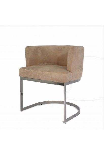 PIMLICO Dining Chair Taupe Velvet