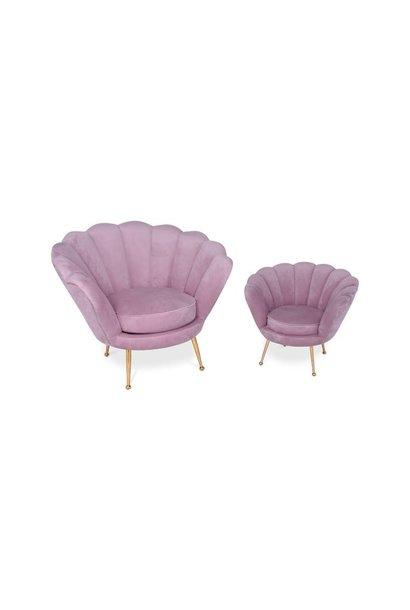 KIDS TRESOR Shell Chair Light Pink Velvet
