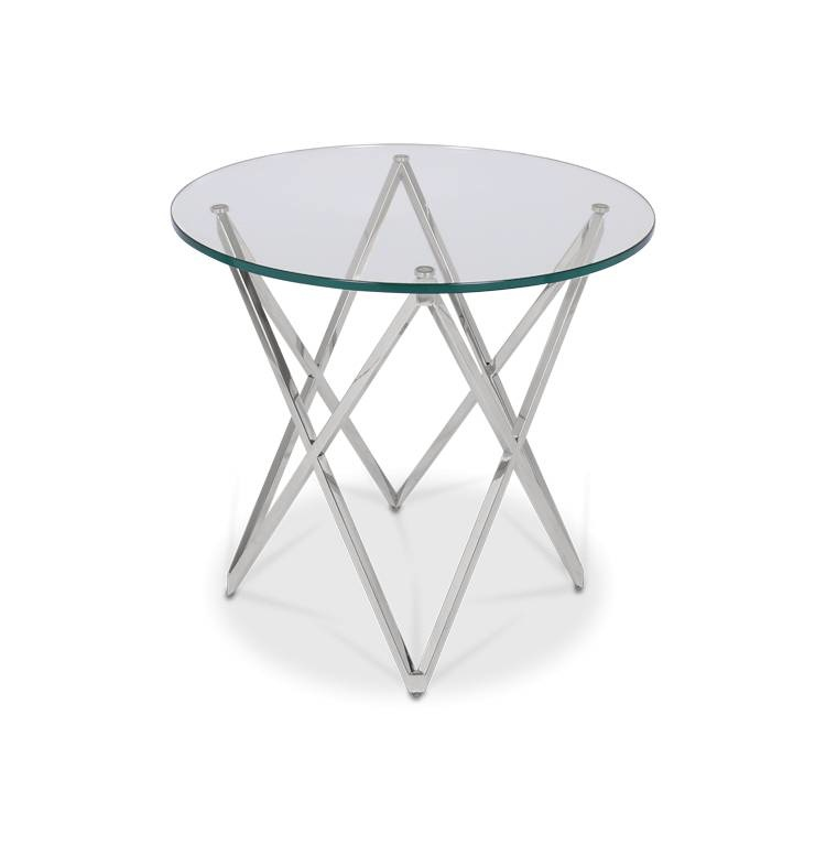 ROME Side Table Silver-1