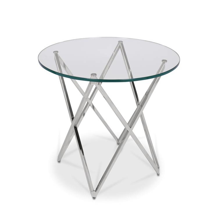 ROME Side Table Silver-2