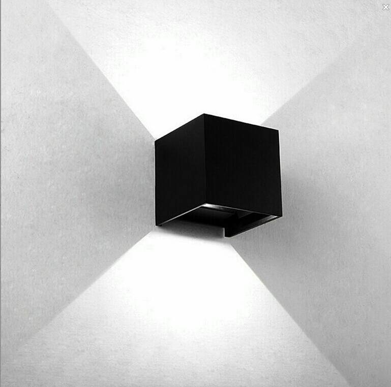 CUBE Wall Light Black-1