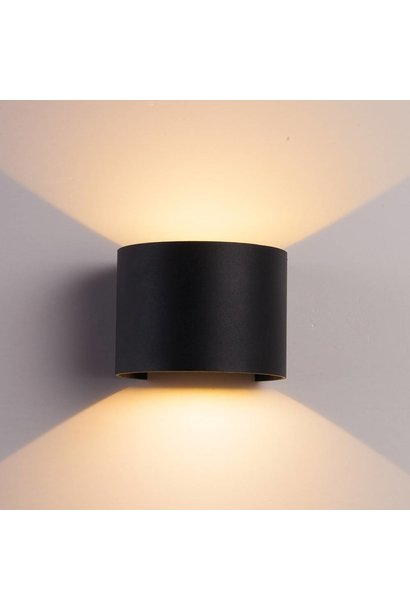 CUBE Wall Light Black Round