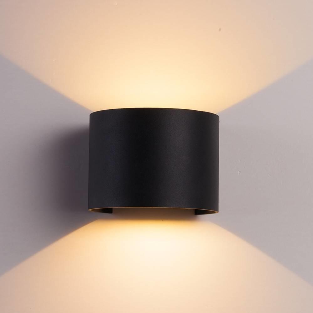 CUBE Wall Light Black Round-1