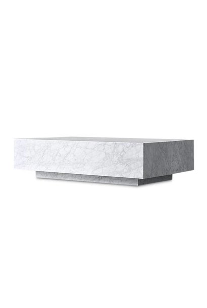 PIENO CARRARA Coffee Table White Square
