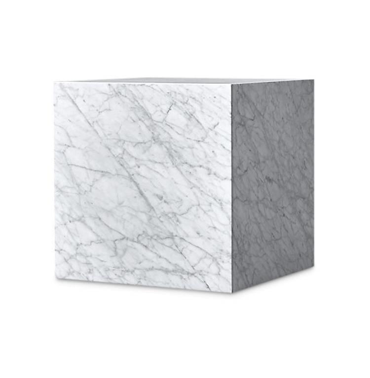 PIENO CARRARA Side Table White-1