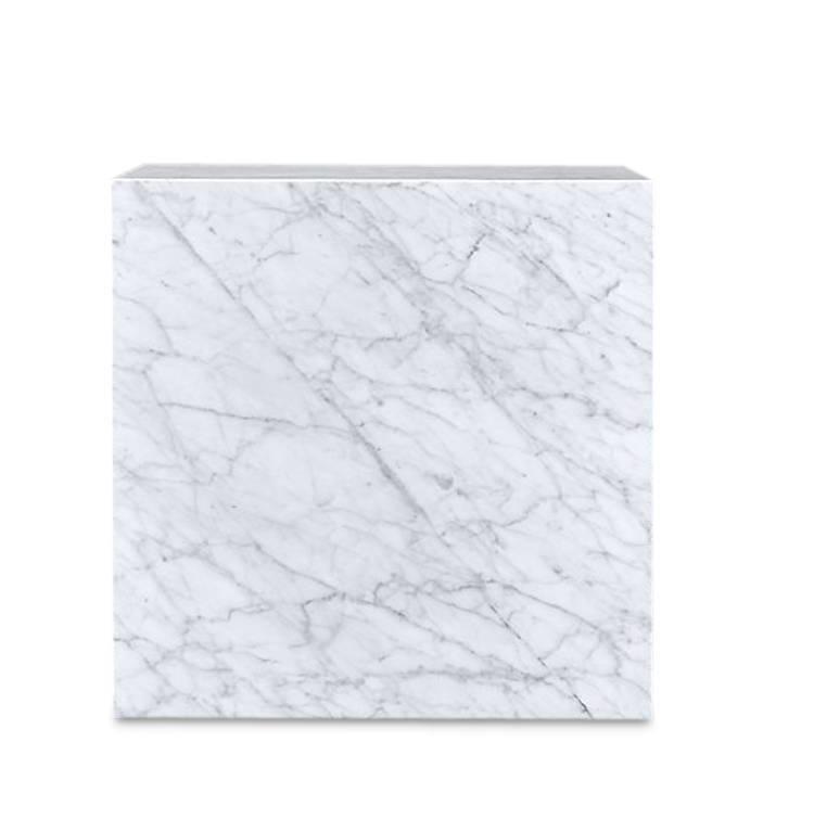 PIENO CARRARA Side Table White-3