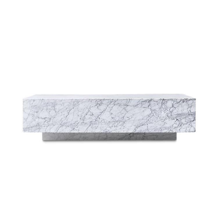 PIENO CARRARA  Coffee Table White Rectangular-2