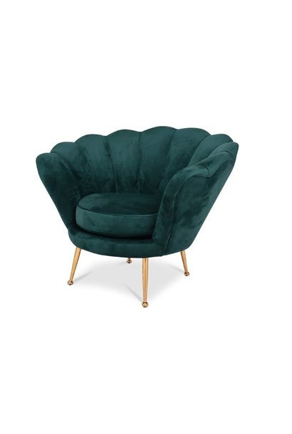 TRESOR Shell Chair Emerald Velvet