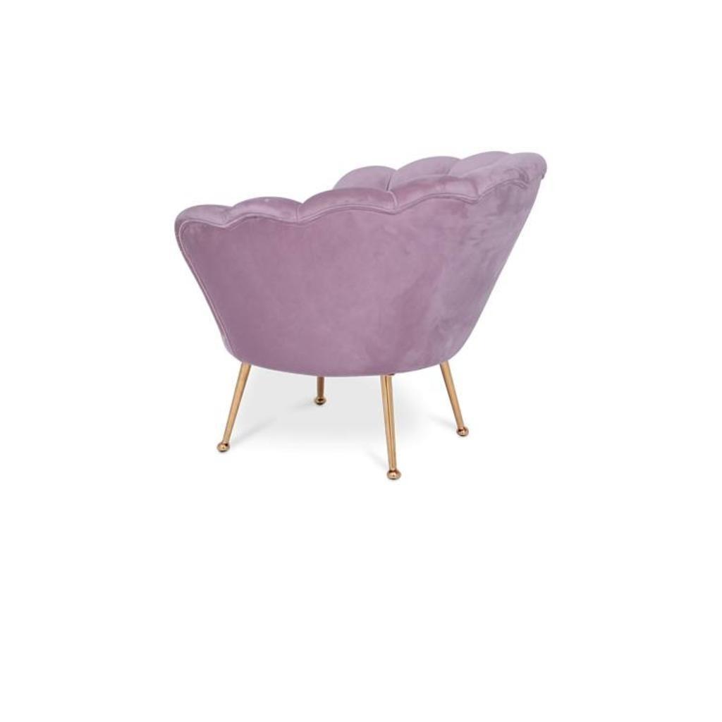 TRESOR Shell Chair Pink Velvet-3