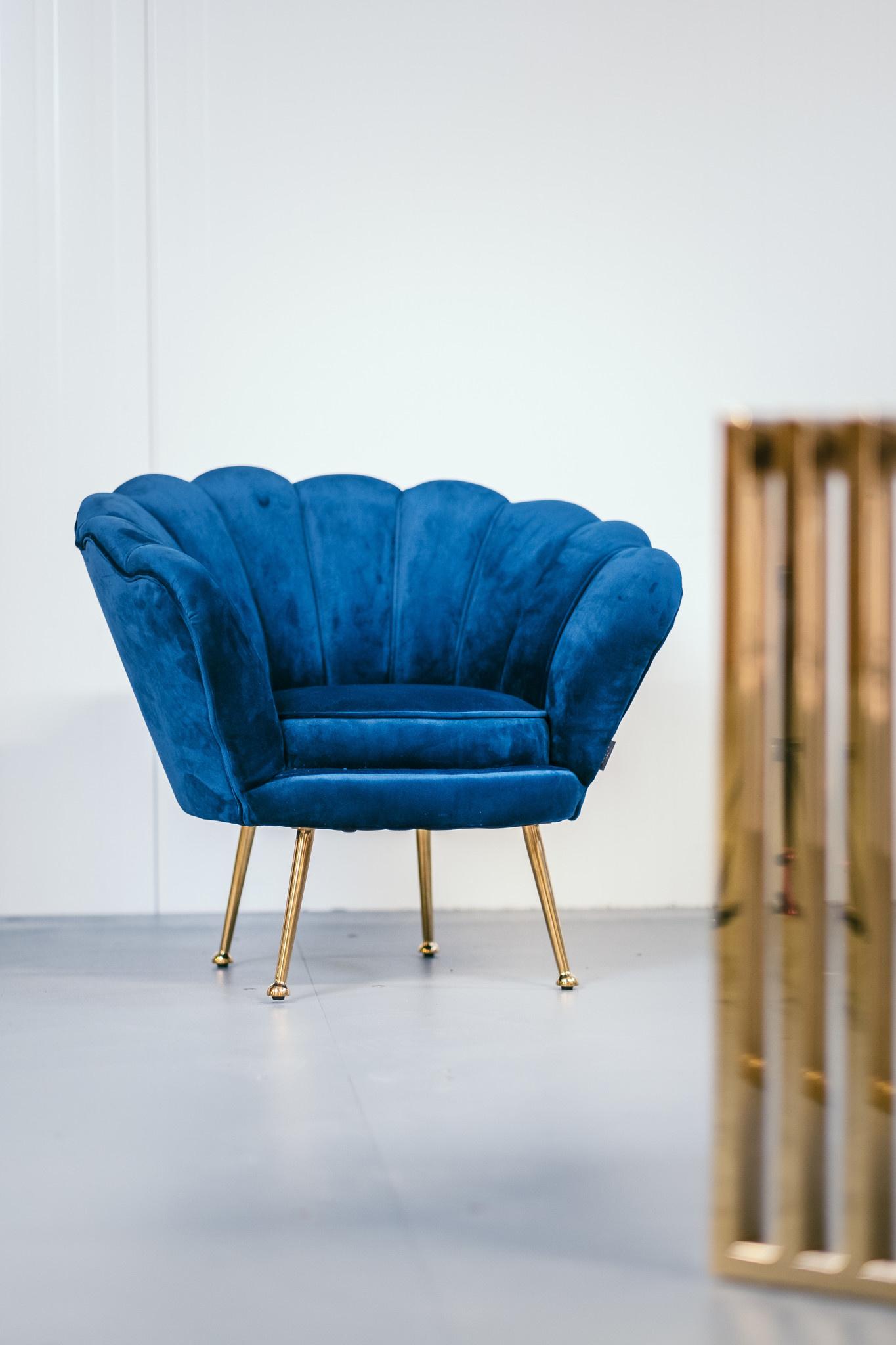 KIDS TRESOR Shell Chair Navy Velvet-3