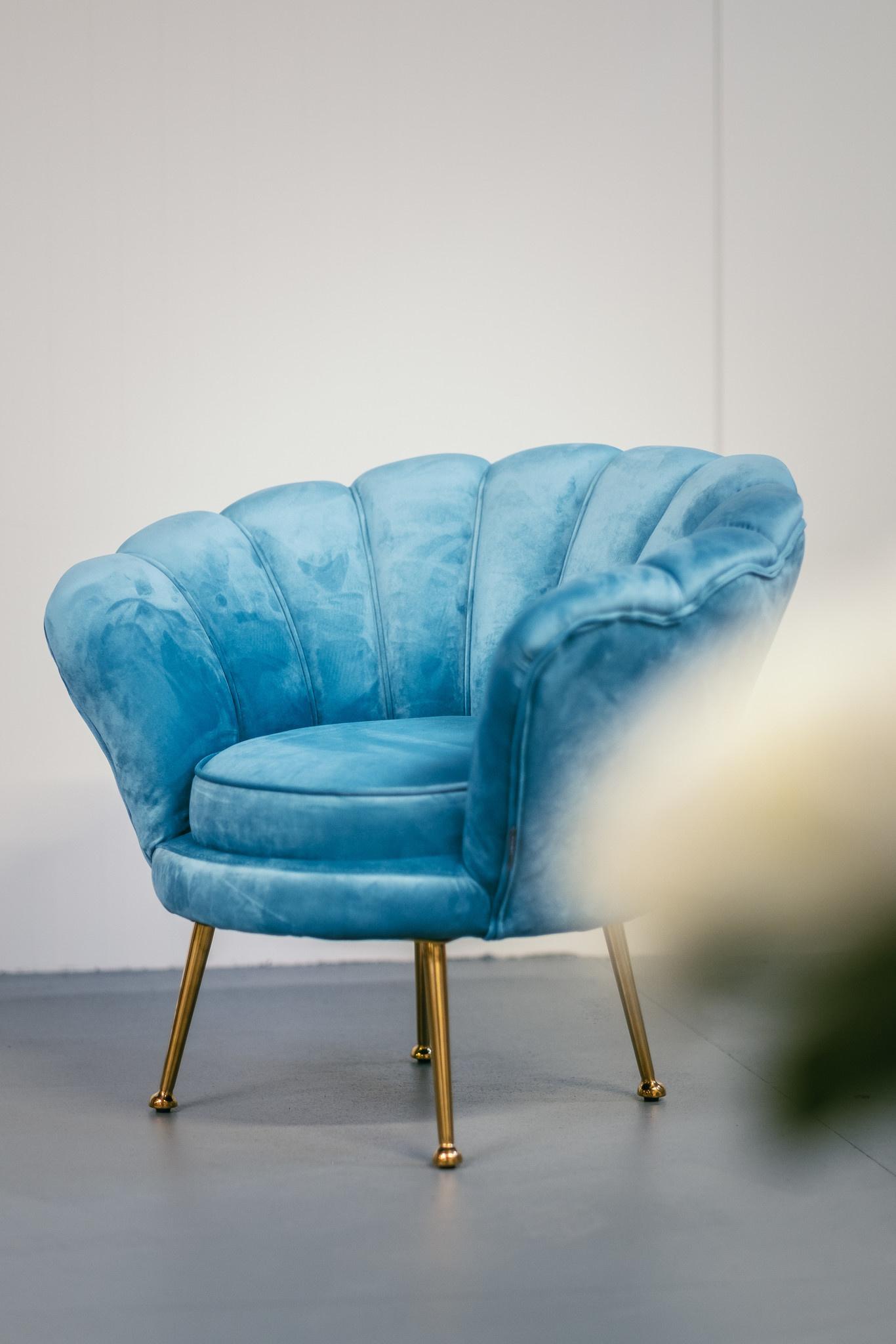 KIDS TRESOR Shell Chair Rose Red Velvet-4
