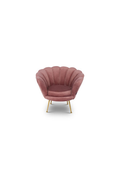 KIDS TRESOR Shell Chair Rose Red Velvet