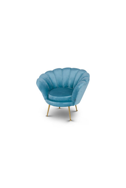 KIDS TRESOR Shell Chair Ocean Velvet