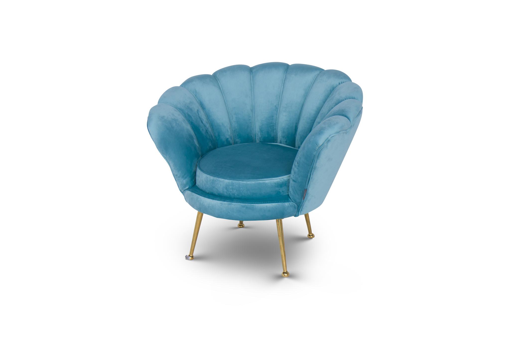 KIDS TRESOR Shell Chair Ocean Velvet-1