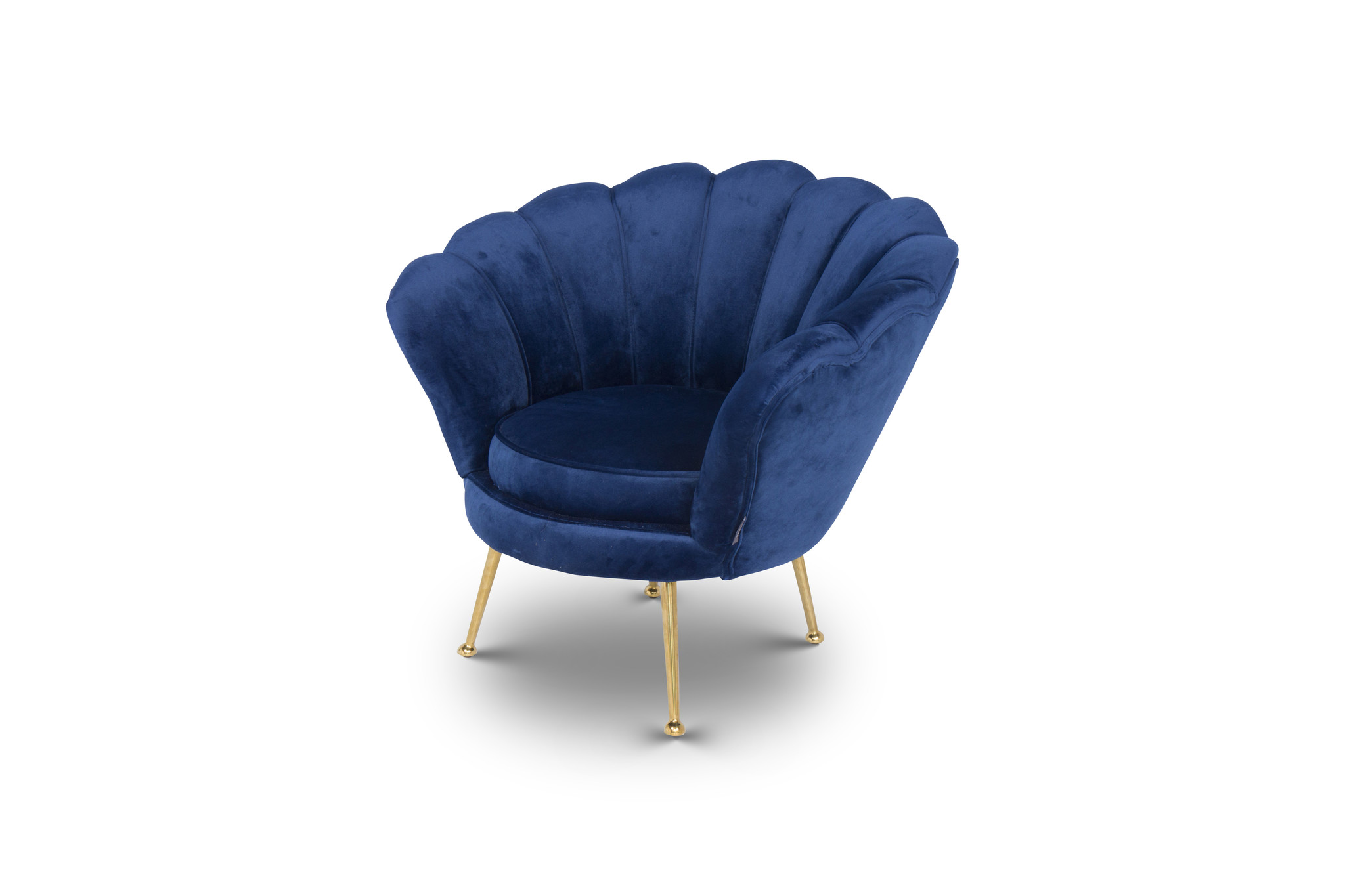KIDS TRESOR Shell Chair Navy Velvet-2