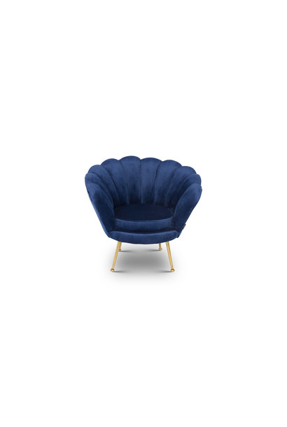 KIDS TRESOR Shell Chair Navy Velvet