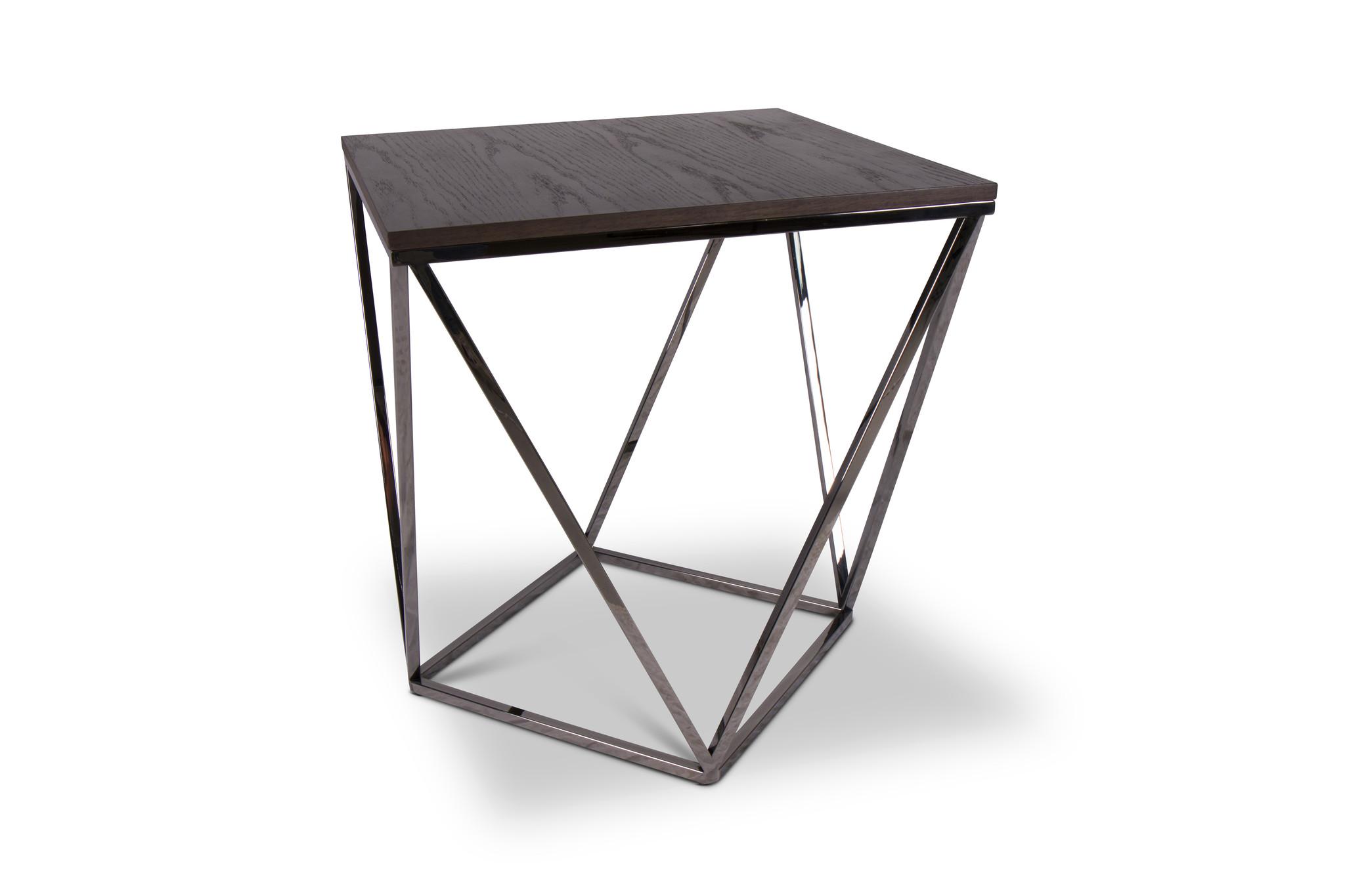 PUGLIA Side Table Charcoal Oak-1