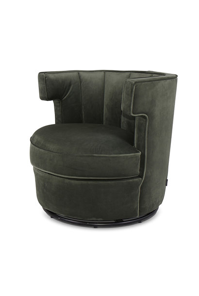 PORTOFINO Arm Chair Forest Green Velvet