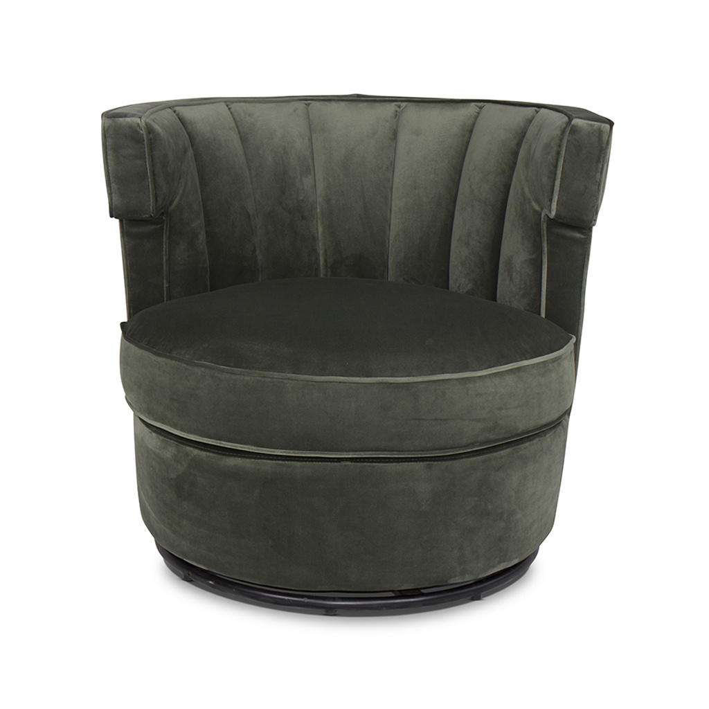 PORTOFINO Arm Chair Forest Green Velvet-2