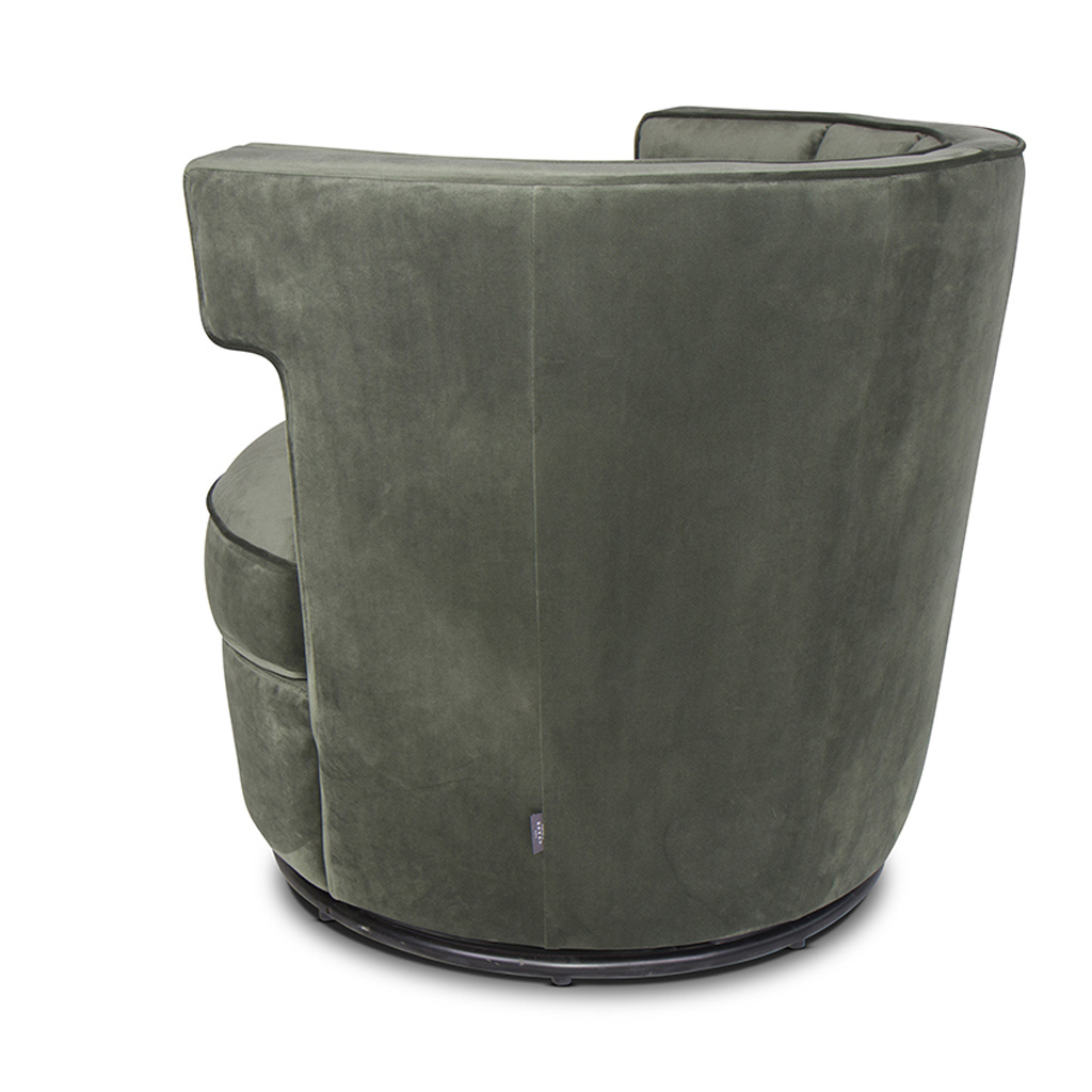 PORTOFINO Arm Chair Forest Green Velvet-3
