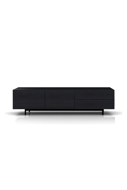 NINO Media Unit Charcoal Oak