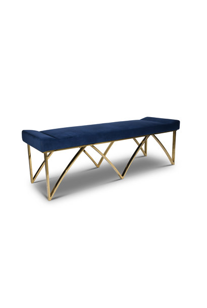 BRIDGE Bench Navy Velvet