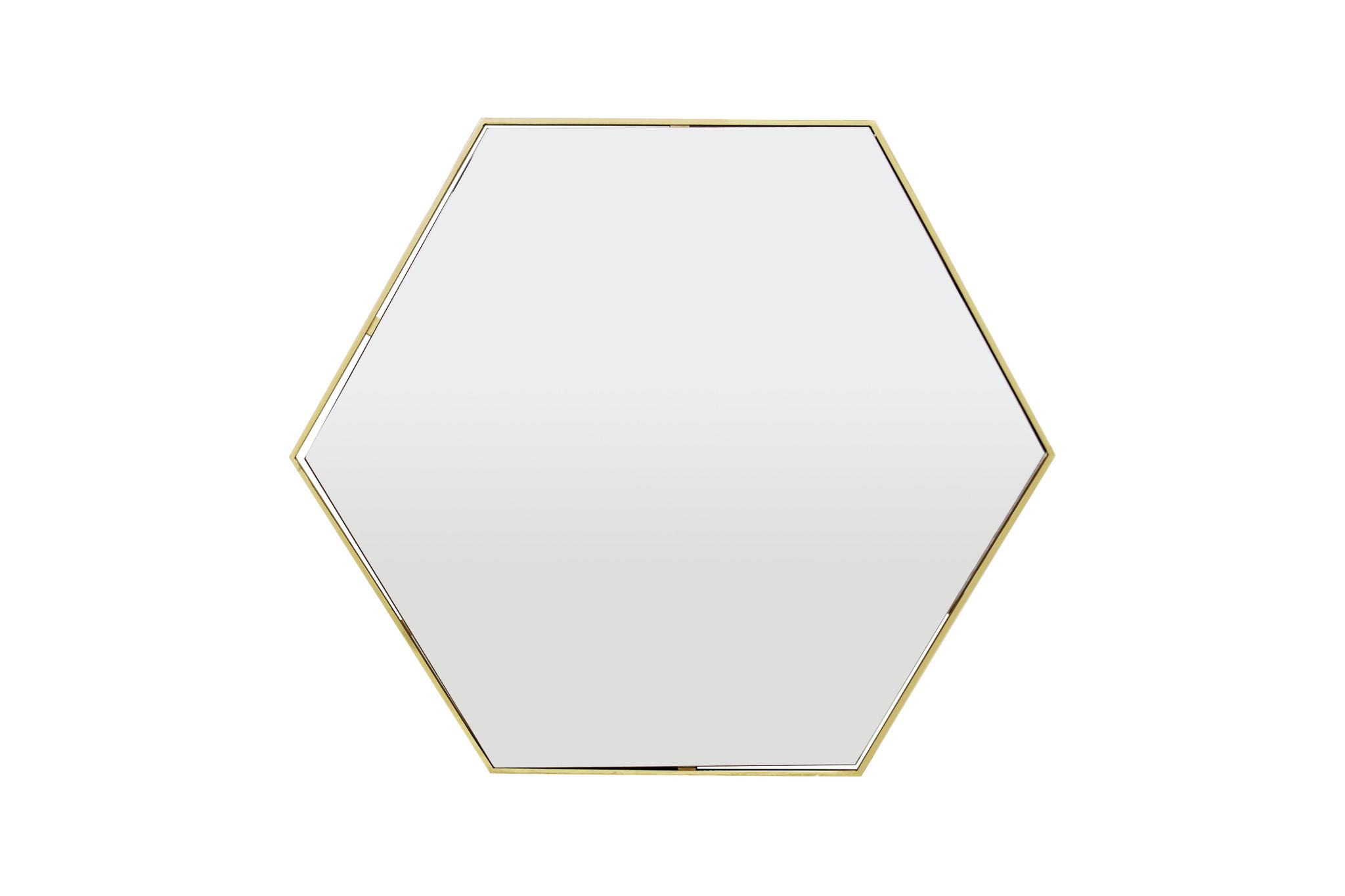 ESAGONO Wall Mirror Gold 100x87-1