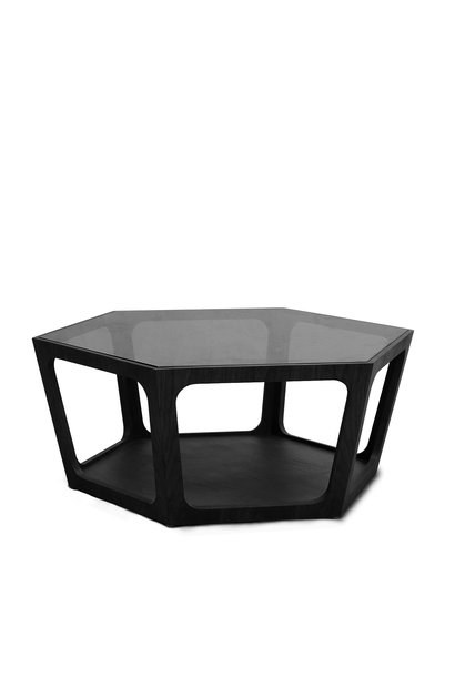 AMADEO Coffee Table Smoke Glass 90cm