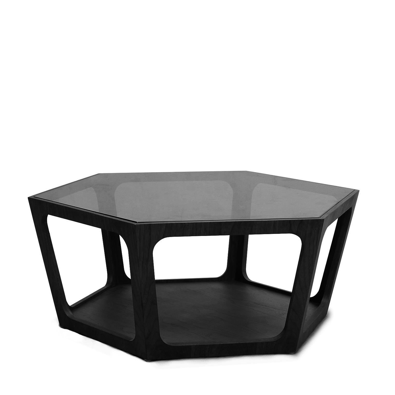AMADEO Coffee Table Smoke Glass 90cm-1
