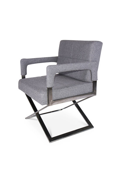 CROSS Arm Chair Mid Grey Cashmere