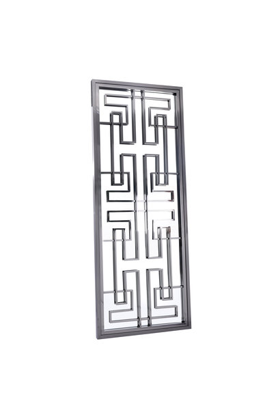 LABYRINTH Wall Mirror Gunmetal 85x220