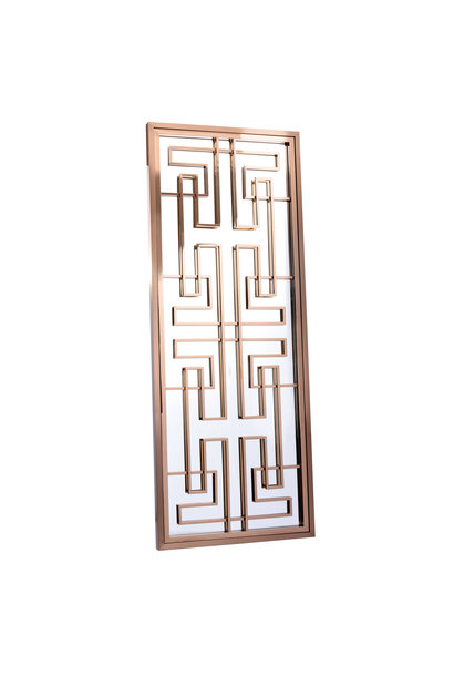 LABYRINTH Wall Mirror Rose Gold 85x220