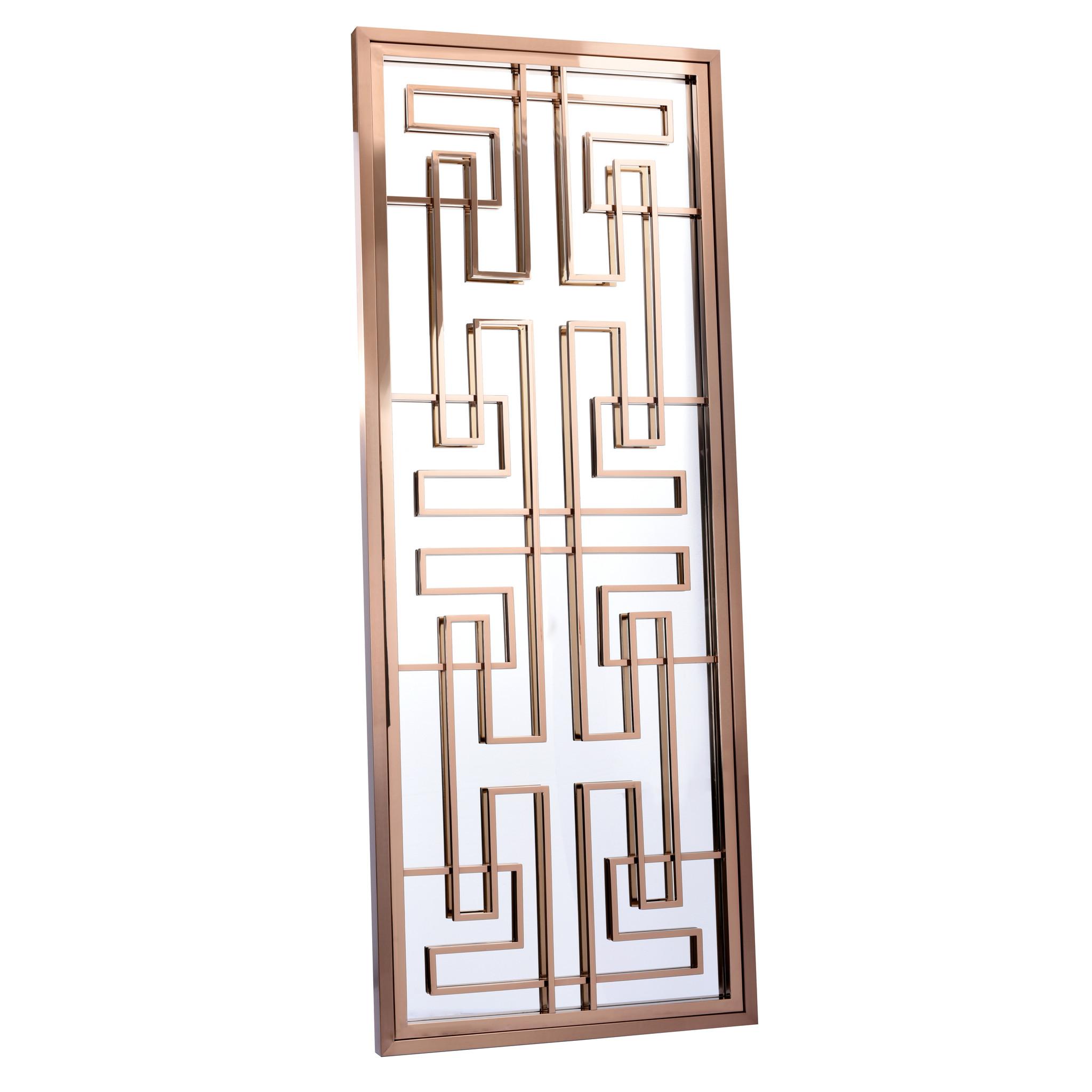 LABYRINTH Wall Mirror Rose Gold 85x220-1