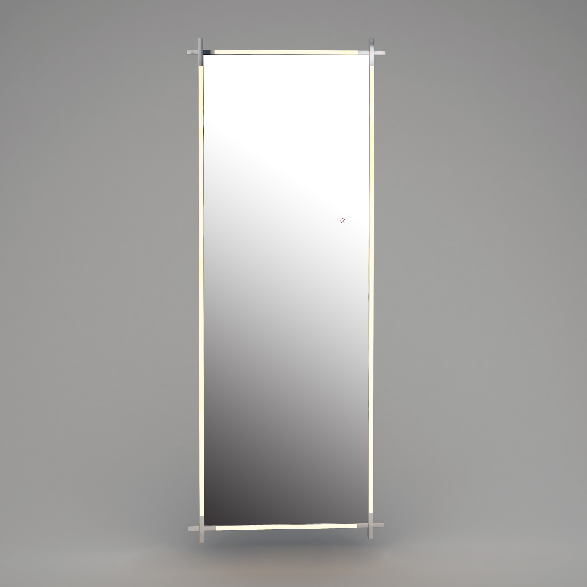 CITY LIGHTS Wall Mirror Silver LED 85x220-2