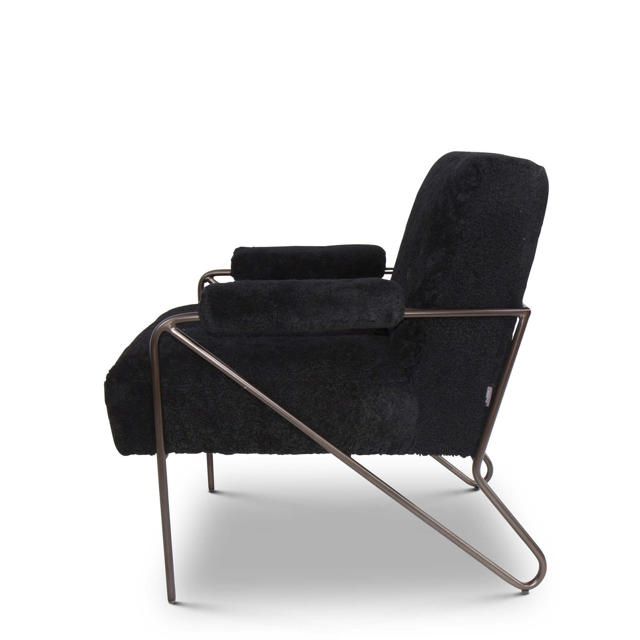 BLACK SHEEP Arm Chair Black Wool-3