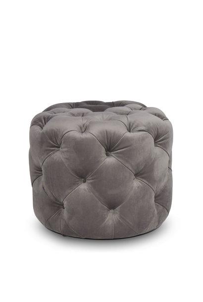 DELUXE Ottoman Dove Grey Velvet