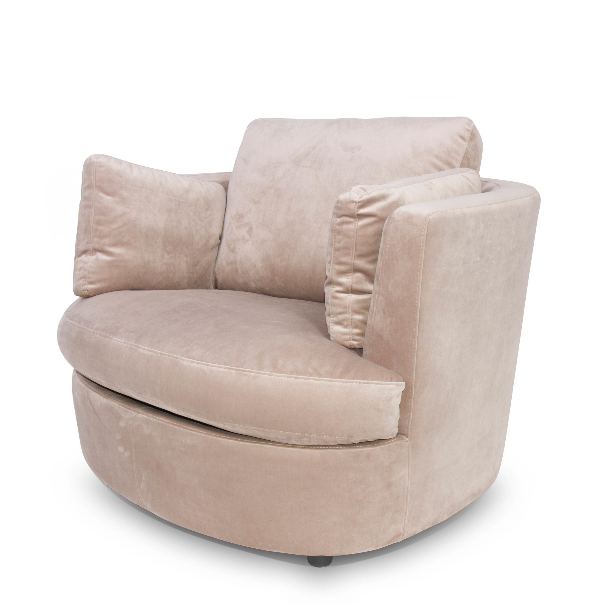 TREVI Arm Chair Champagne Velvet-1