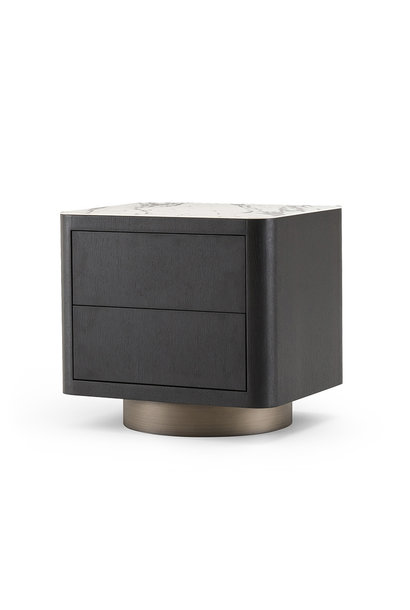 MADISON Side Table Charcoal Oak