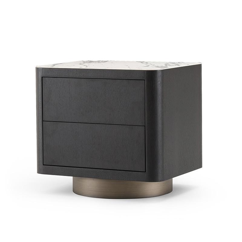 MADISON Side Table Charcoal Oak-1